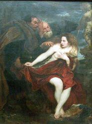 Antoine van dyck diane au bain surprise par acteon 1621 msee du louvre
