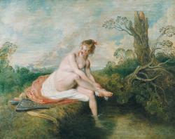 Antoine watteau diane au bain 1715 1716 musee du louvre