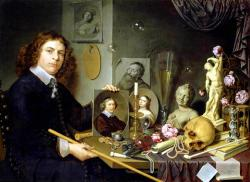 Bailly david self portrait with vanitas