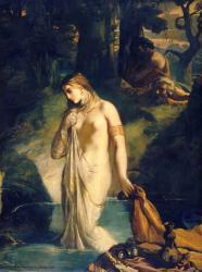 Chasseriau theodore suzanne au bain 1839 louvre