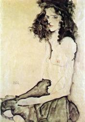 Egon schiele girl in black