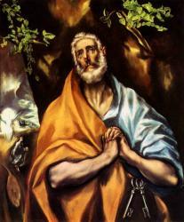 El greco les larmes de saint pierre 1605