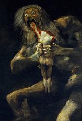 Goya saturne devorant un de ses fils