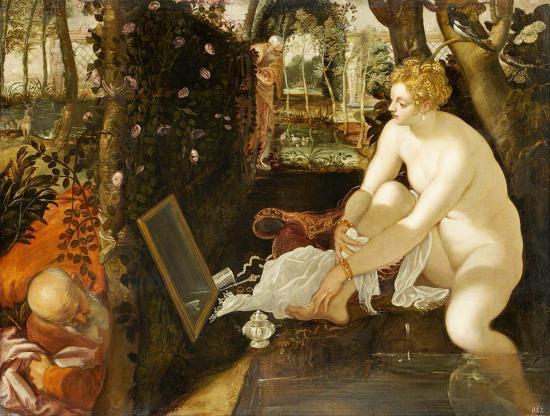 Jacopo robusti called tintoretto susanne et les deux vieillards