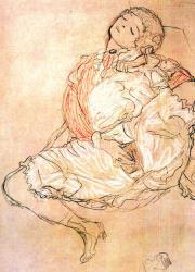 Klimt femme assise