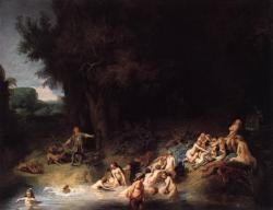 Rembrandt diane au bain 1634
