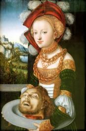 Salome avec la tete de saint jean baptiste lucas cranach 2